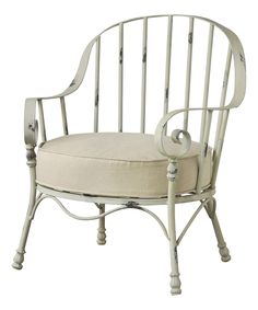 Another great find on #zulily! Cream Distressed Armchair by Established 98 #zulilyfinds
