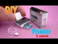 DIY Realistic Miniature Printer | DollHouse | No Polymer Clay! - YouTube