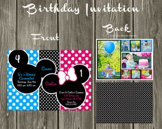 Mickey Mouse and Minnie Mouse Custom Digital by SavCreations, $16.00