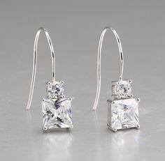925 silver earrings, cubic zirconia stone, OEM ok, item number: BTER006