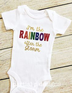 ecfff09833f38 Rainbow Baby Bodysuit Baby Girl Baby Shower Coming Home Rainbow  Decorations