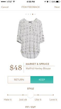 Market & Spruce Walfrid Henley Blouse