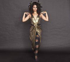 medusa costume - way to tie the dress