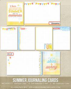 Summer journaling cards $3.99