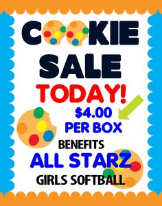 Cookie Sale Fundraising Poster!