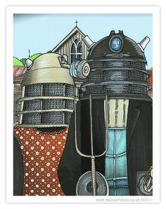 #Dalek #DoctorWho #Art Day 57: American Dalek