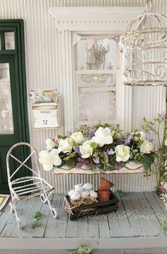 Cinderella Moments: Josephine Shabby Chic Cottage Custom Dollhouse