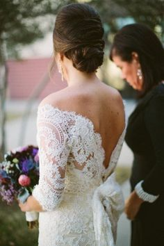 low back lace dress custom made by https://www.facebook.com/nardos.imam Photography by Taylor Lord Photography / taylorlord.com, Floral Design by Coco Fleur Events / cocofleureventdesign.com