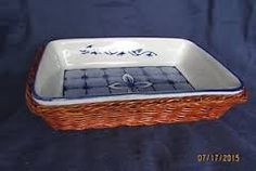 Resultado de imagen para bandejas de mimbre y ceramica