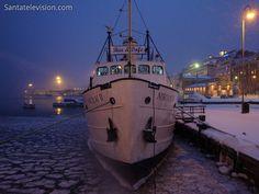 A restaurant boat in Helsinki city-centre in Finland