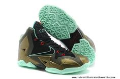 2013 Parachute Gold Arctic Green-Dark Loden-Black-University Red Womens Nike  LeBron 11 For Sale 89008f8f3