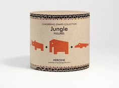 'jungle stamps' packaging from heroine studio, valencia, spain
