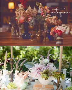 Love the blue vases.  primary_petals_centerpieces by Lovestruck Events, via Flickr