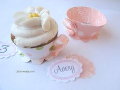 Tea Cup Cupcakes KIT  Tea Party Cupcake Wrappers by cathyswraps, $10.00