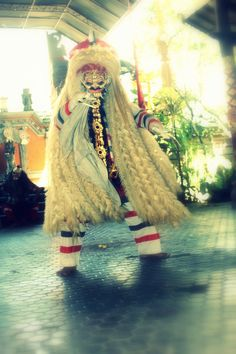 Rangda is the demon queen of the leyaks in Bali, according to traditional Balinese mythology. #batubulan #Bali #Indonesia