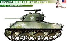 M4A3 Sherman (late production model)