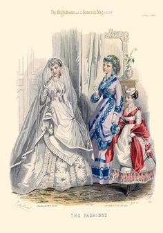 """""""Bridal Fashions.  'The Englishwoman's Domestic Magazine, 1869."""""""