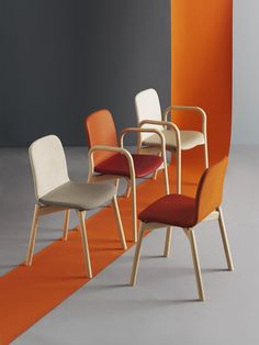 Two Tone Chair & Armchair by Ichiro Iwasaki for Discipline. Available at Stylecraft. Image by Carl Kleiner.