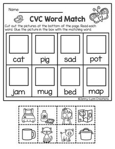 I would like to say thank you to all the teachers out there who work so hard to make the school year a success. This packet is a little thank you gift! I hope you like it. It includes four worksheets in both versions: full page and half page. Kindergarten Freebies, Kindergarten Language Arts, Kindergarten Activities, Kindergarten Word Work, Short Vowel Activities, Preschool Phonics, Word Family Activities, Teaching Phonics, Preschool Learning
