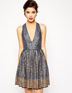 Deep V Party Dress | http://rstyle.me/n/uc7nhsque