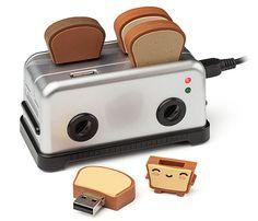 USB Toaster Hub and Thumb Drives (how cute)