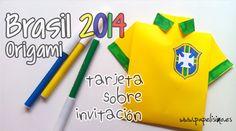 Niños: Invitación Cumpleaños Camiseta Mundial Brasil 2014