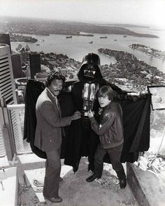 Voice of Darth Vader BEFORE James Earl Jones: http://cinearchive.org/post/121140201795/billy-dee-williams-and-mark-hamill-with-darth…