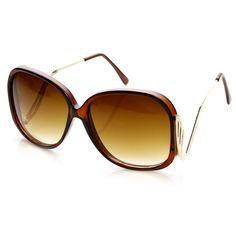 aa2d55b982c Retro 1980 s Fashion Large Square Designer Sunglasses 8287