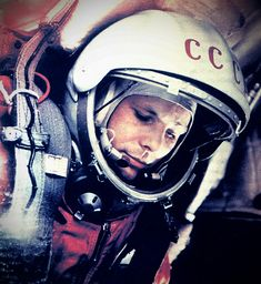 """1961 """"I see no God up here"""" - Yuri Gagarin, first man in space."""