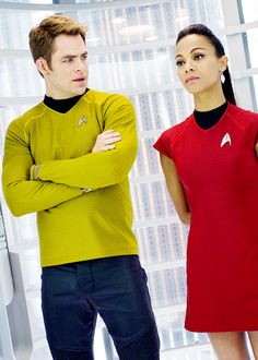 """star trek into darkness """"are you two fighting? Oh my god! What that even like?"""""""