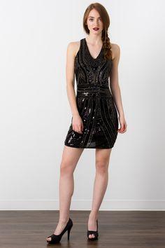 Suzy Shier Embellished Sheath Dress