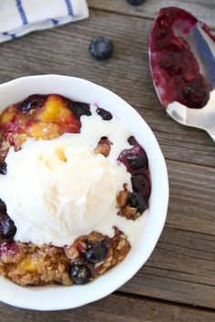 Blueberry Peach Crumble from Two Peas & Their Pod! This looks SO good!