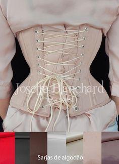 Ref.: WC 013. Corset waist-cincher em sarja 100% algodão bege rosada com fechamento frontal por busk . Modelo recomendado para medidas até 80 cm de cintura. Site: http://www.josetteblanchardcorsets.com/ Facebook: https://www.facebook.com/JosetteBlanchardCorsets/ Email: josetteblanchardcorsets@gmail.com josetteblanchardcorsets@hotmail.com