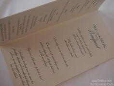 Festprogram Bröllop-  luxury Progrma Lila & Ivory insidan
