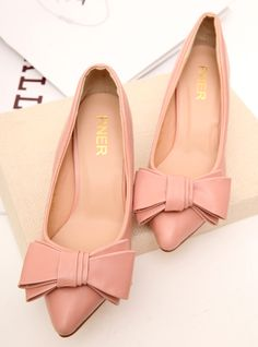 shoes - http://zzkko.com/n215467-i-Minuo-new-Korean-version-of-sweet-bow-pointed-stiletto-shoes-shoes-OL-commuter.html $23.46