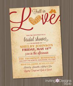 Fall Bridal Shower Invitation Love Birds by InvitingDesignStudio, $18.00