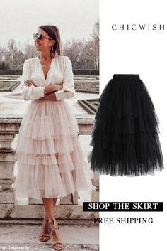 Love Me More Layered Tulle Skirt featured by cristinasurdu. Fashion Mode, Womens Fashion, Estilo Cool, Mode Kawaii, Led Dress, Moda Chic, Party Skirt, Mode Style, Mode Inspiration