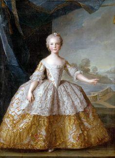 Portrait d'Isabelle de Bourbon-Parme peint avant 1763 par Anton Raphaël Mengs Isabelle de Bourbon-Parme, princesse de Parme, (née le 31 décembre 1741 à Madrid et morte le 27 novembre 1763 (à 21 ans) à Vienne) est la fille de Philippe Ier, duc de Parme, Plaisance et Guastalla et de Marie-Louise-Élisabeth, fille aînée du roi de France Louis XV.