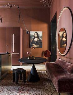 ⟪ Bold dark colors for Paris apartment⟫ ◾ Фото ◾Идеи ◾Дизайн