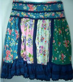 Matilda Jane Weekender Lined Skirt Good Hart Woman Medium Boho Chic Prairie  #MatildaJane #Skirt