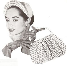 Vintage 40s & 50s Hat & Purse Crochet Pattern