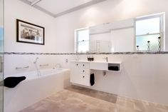 A completed bathroom that is wheel chair friendly