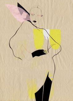 like the abstract b/w and color blocks Cecilia-Carlstedt-Fashion-Illustrations-3.jpg 600×837 pixels