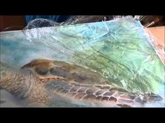 How To paint A Background in Watercolour Using Cling Film - YouTube