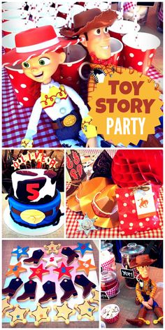 Toy Story Themed Party for Your Littles. How could this not be fun? Woody Birthday, Cowboy Birthday, Sons Birthday, Toy Story Birthday, 3rd Birthday Parties, Birthday Ideas, Toy Story Party, Toy Story Theme, Cumple Toy Story
