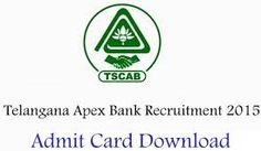 TCSAB Staff Assistant Manager Hall Ticket 2015 Download