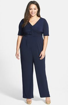 Gabby Skye Twist Front Jumpsuit (Plus Size) available at #Nordstrom