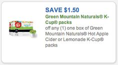K-Cup Coupons - NINE Printables Including Green Mountain, Snapple, Newman's Own Organics, & More!