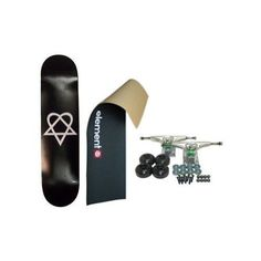 """ELEMENT Skateboard LOGO Grip HEARTAGRAM BB COMPLETE BLK - http://shop.dailyskatetube.com/?post_type=product&p=2016 -  Element Bam Margera/Heartagram CompleteBrand New, In a position to RideIncludes:Heartagram Black Deck 7.five"""" x 31.five"""" Havoc Silver Vehicles Black Clean wheels (one hundred% USA Made Urethane) Flash ABEC 3 -Tone Bearings Shorty's Hardware Element - Emblem Picture  Grip Tape We have over 150,000 -"""
