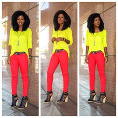 Today's Outfit Post! Neon Love!